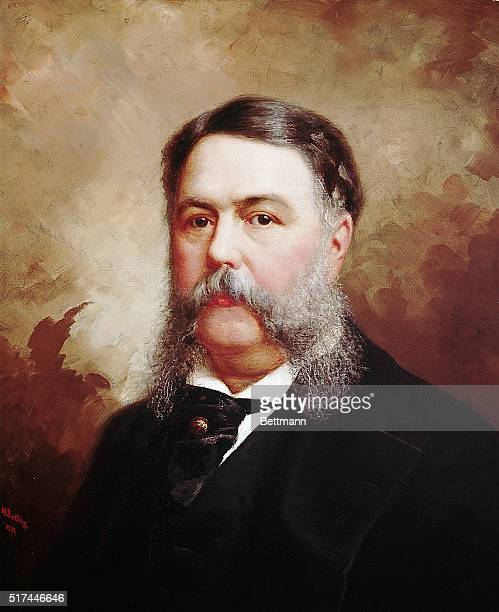 Painting of 21st US President Chester A Arthur by Ole Peter Hansen Balling Undated