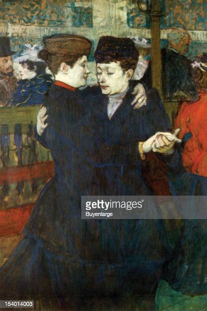Painting of A couple dancing arm in arm doing a waltz 1900