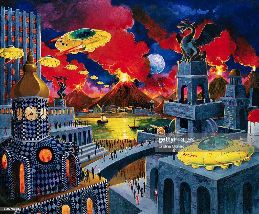 Unfriendly Skies: Apocalyptic Sci-Fi Art