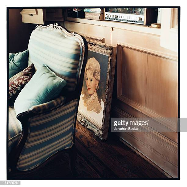 Painting of actress Zsa Zsa Gabor is photographed in her home for Vanity Fair Magazine on May 5, 2007 in Bel Air, California. PUBLISHED IN JONATHAN...