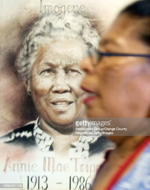 A painting of Annie Mae Tripp the founder of Southwest Community Center in Santa Ana appears to keep a watchful eye over the center she started from...