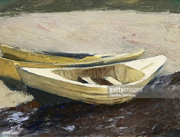 Painting of Beached Skiffs by Jennifer Bartlett