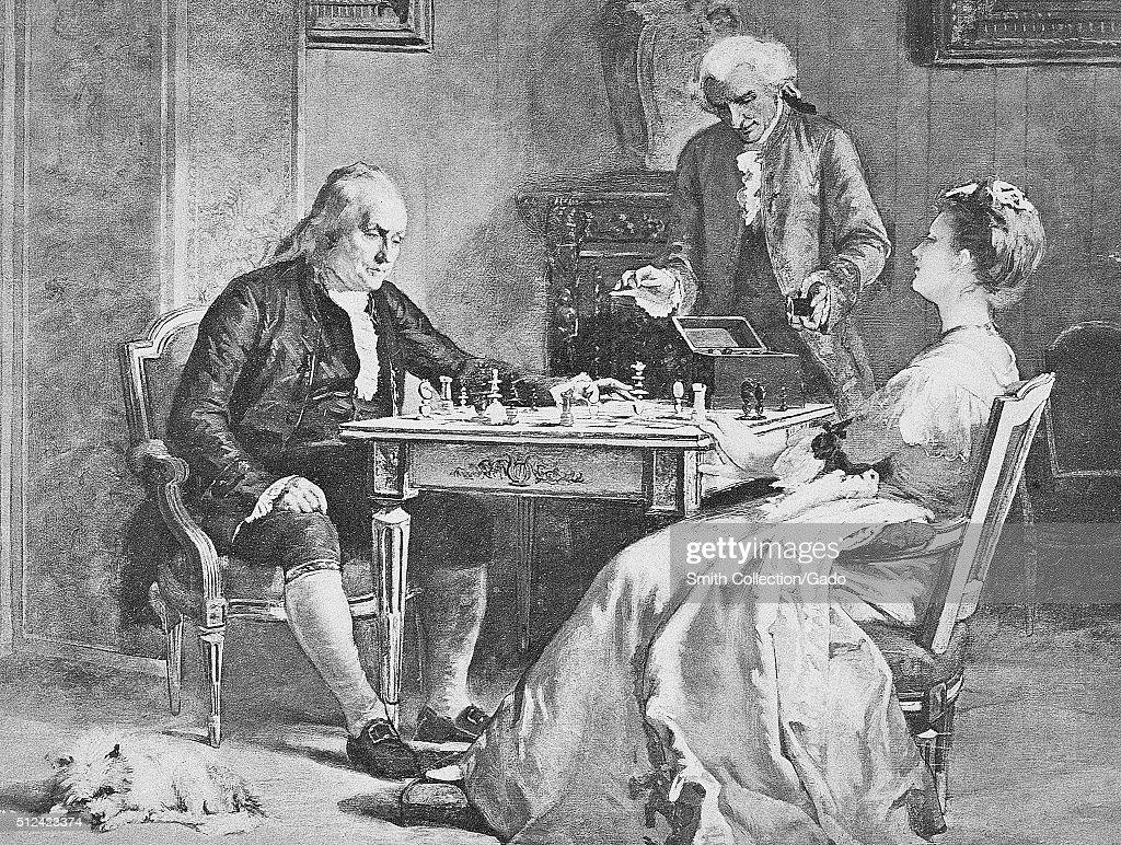 Benjamin Franklin Painting : News Photo