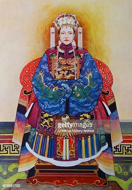 Painting of Empress Dowager Cixi a Chinese empress dowager and regent who effectively controlled the Chinese government in the late Qing dynasty for...