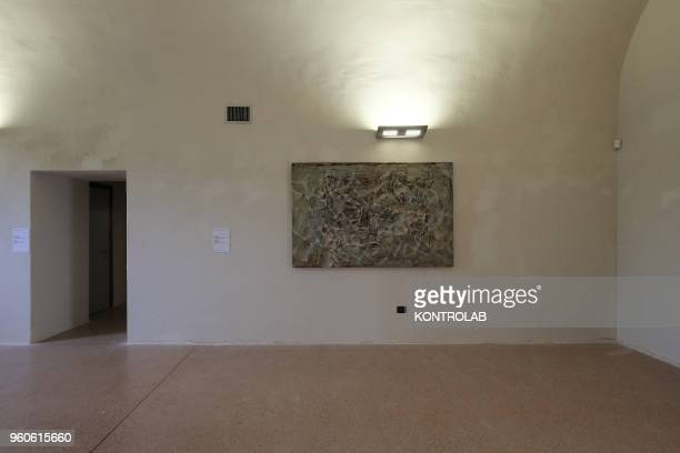 PIEMONTE SALUZZO CUNEO ITALY A painting of Iranian artist Firoozeh Akhlaghi is shows during the opening of exhibition Diario Persiano at Castiglia...