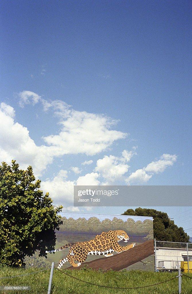 Painting of jaguar outdoors : Stock Photo