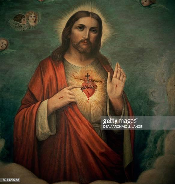 Painting of Jesus Monastery of St Julian di Albaro Liguria Italy 13th15th century