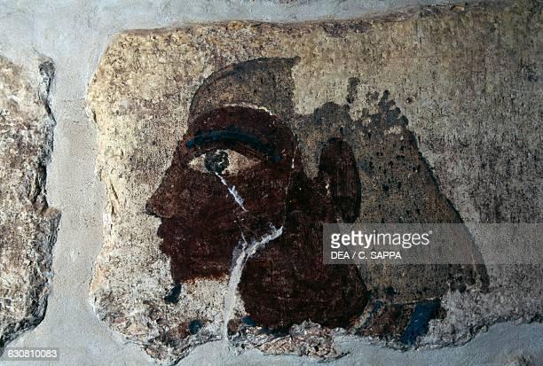 Painting of Khentika burial chamber Mastaba of Khentika Balat Dakhla Oasis Libyan Desert Egypt Egyptian civilisation Old Kingdom Dynasty VI