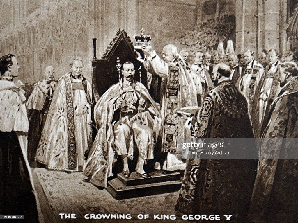 King George V during the King's coronation. : News Photo