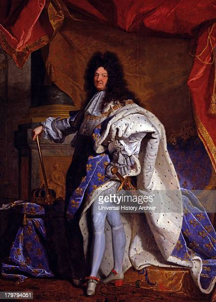Painting of Louis XIV King of France 16381715 By Hyacinthe Rigaud circa 1701 Displayed in the palace of Versailles