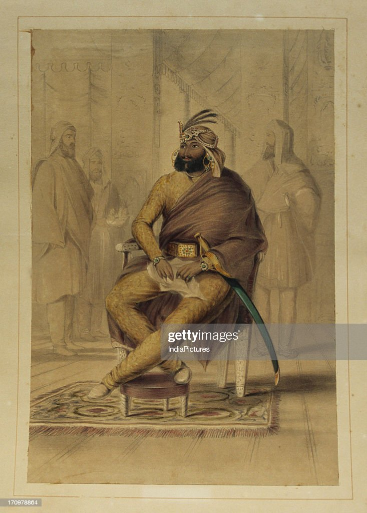 Painting of Maharaja Ranjit Singh : News Photo