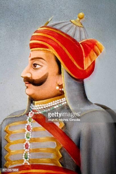 Painting of Maharana Pratap Udaipur Rajasthan