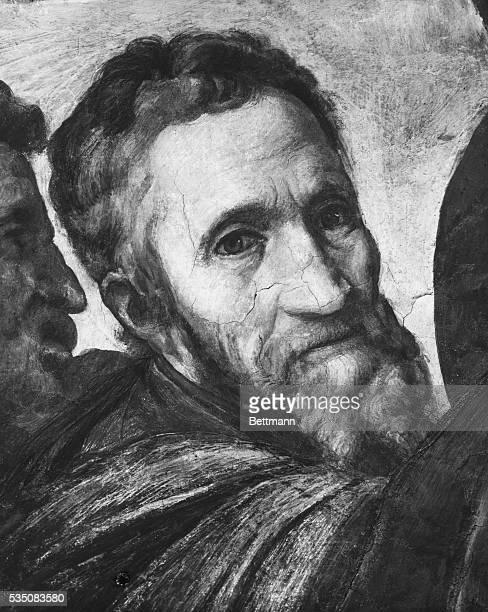 Painting of Michelangelo by Vasari