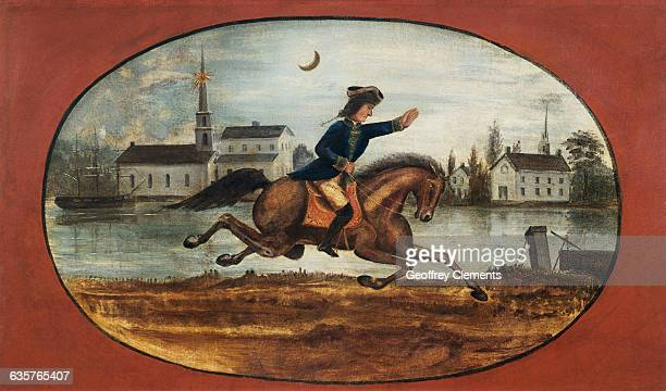 Painting of Midnight Ride of Paul Revere