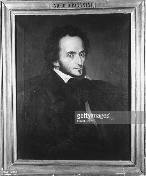 Painting of Nicolo Paganini