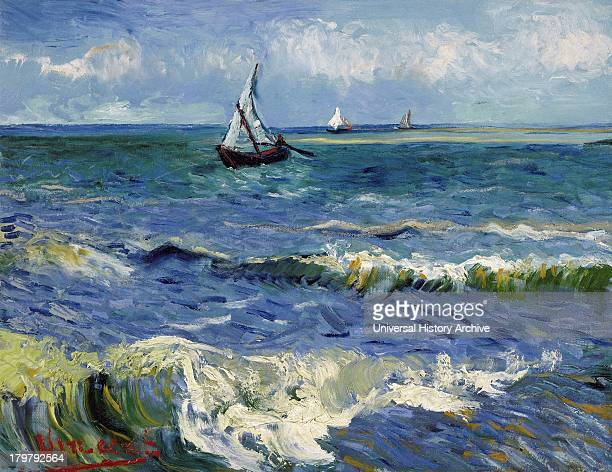 Painting of Seascape near Les Saintes Maries de la Mer 1888 By Vincent van Gogh Oil on Canvas