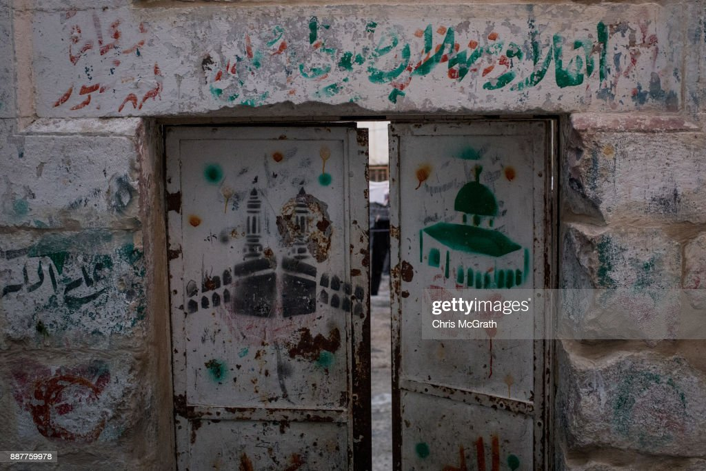 A painting of the Al-Aqsa Mosque is seen on a door in the Old City on December 7, 2017 in Jerusalem, Israel. Tension is high in Jerusalem a day after U.S President Donald Trump's announcement recognizing Jerusalem as the capital of Israel. President Trump went ahead with the announcement despite warnings from Middle East leaders and the Pope condemning the decision. Clashes between Israeli forces and Palestinian protesters erupted in several West Bank cities.