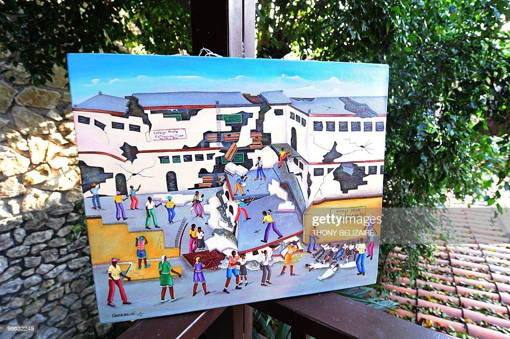 TO GO WITH AFP STORY HAITI-QUAKE-ART-CUL : Nieuwsfoto's