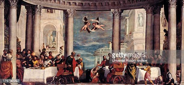 Painting of The Feast in the house of Simon the Pharisee circa 1572 Oil on canvas By Italian painter Paolo Veronese