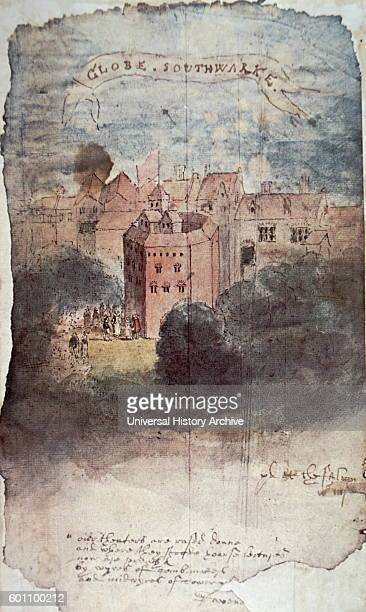 Painting of the Globe Theatre in London Dated 16th Century
