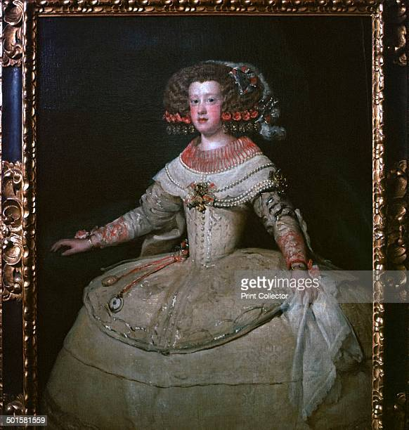 Painting of the Infanta Maria Theresa by Velasquez from the Kunsthistoriches museum's collection in Vienna 17th century