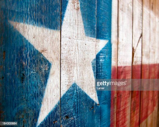A painting of the Texas flag on wood