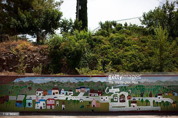A painting of the town is seen in Colonia Juarez Mexico in July 2011 United States Presidential candidate Mitt Romney's family migrated to Mexico...