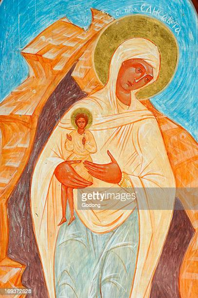 Painting of the Virgin and child in Ain Kerem orthodox monastery