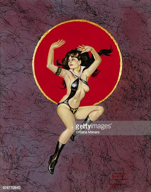 Painting of Vampirella by Anton Brzezinski