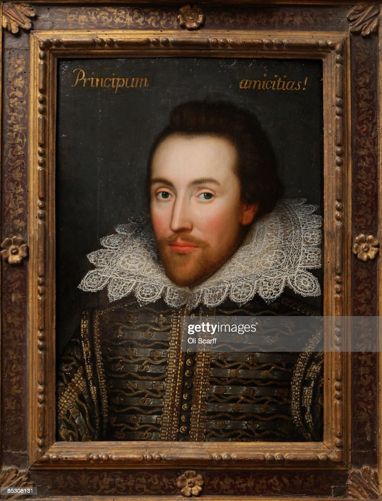 Newly Identified Portrait Of William Shakespeare Is Unveiled : News Photo