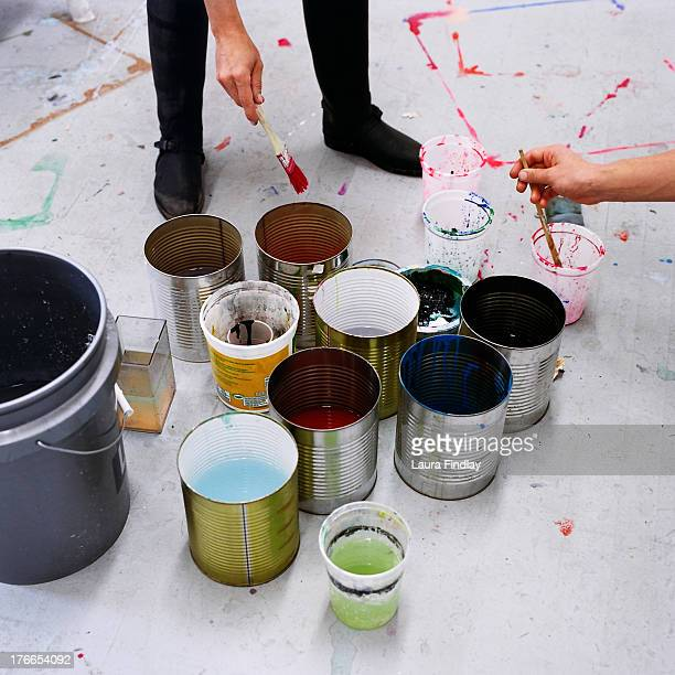 Painting Paint Buckets and Brushes