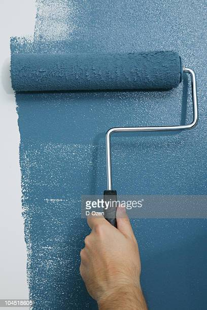 painting series - paint roller stock pictures, royalty-free photos & images