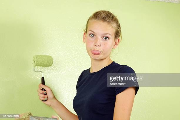 Pintura produz maus cheiros