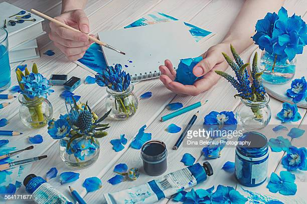Painting the blue
