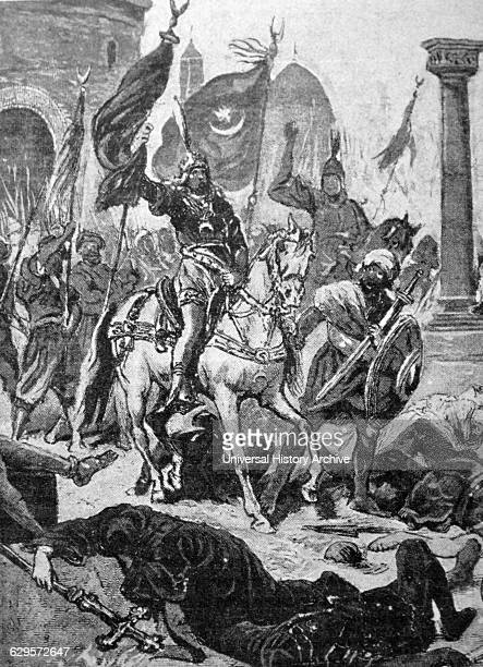Painting the entry of Mehmed II into Constantinople