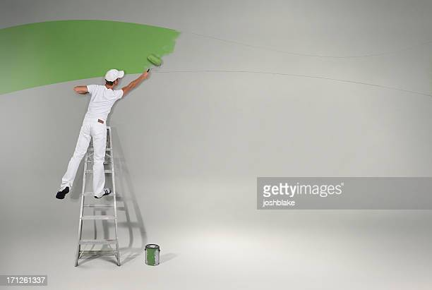 Painting the wall green again
