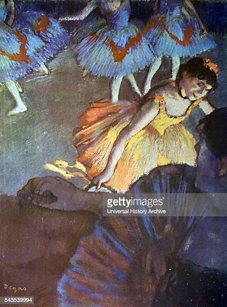 Painting titled 'A Ballet Seen from an Opera Box' by Edgar Degas a French artist famous for his paintings sculptures prints and drawings Dated 19th...
