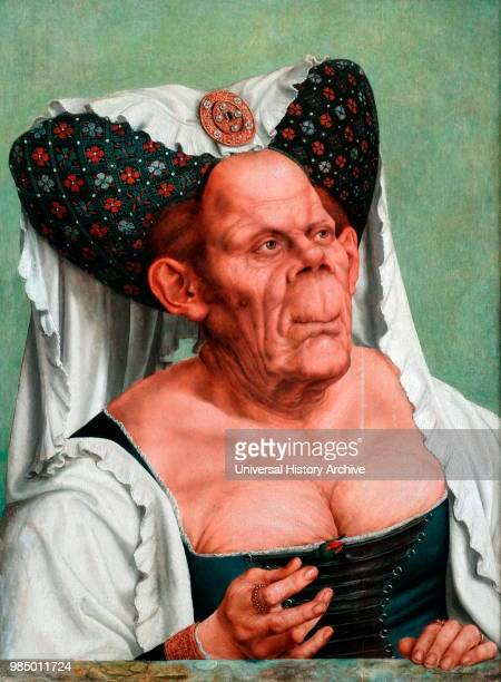 Painting titled 'An Old Woman ' by Quentin Matsys a Flemish painter and founder of the Antwerp School Dated 16th Century