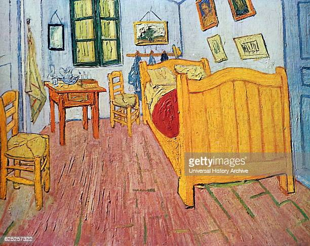 Painting titled 'Bedroom in Arles' by Vincent van Gogh a Dutch PostImpressionist painter Dated 19th Century