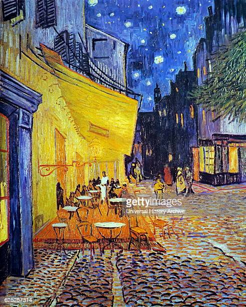 Painting titled 'Cafe Terrace at Night' by Vincent Van Gogh a Dutch PostImpressionist painter Dated 19th Century