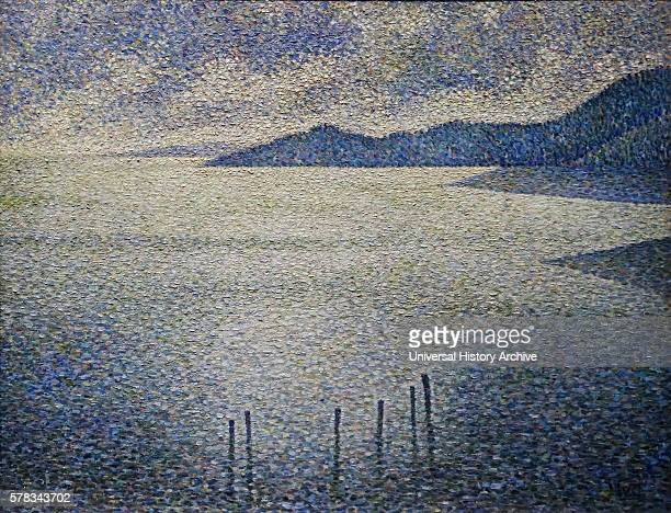 Painting titled 'Coastal Scene' by Theo van Rysselberghe a Belgian neoimpressionist painter Dated 19th Century