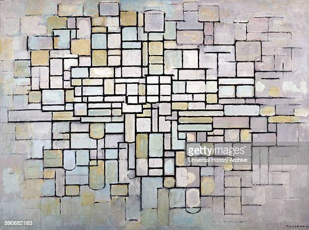 Painting titled 'Composition no 11' by Piet Mondrian Dutch painter He was a contributor