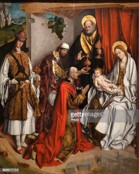 Painting titled 'Epiphany' by Fernando Gallego Spanish painter His art is generally regarded as HispanoFlemish in style Dated 15th Century
