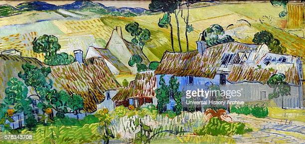 Painting titled 'Farms near Auvers' by Vincent van Gogh a Dutch postImpressionist painter Dated 19th Century