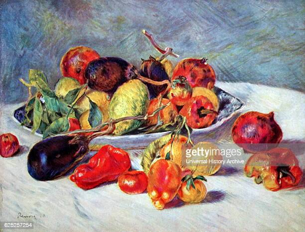 Painting titled 'Fruits of the Midi' by PierreAuguste Renoir a French artist Dated 19th Century