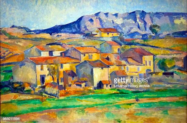Painting titled 'Hamlet at Payannet near Gardanne by Paul Cezanne a French PostImpressionist painter Dated 19th Century