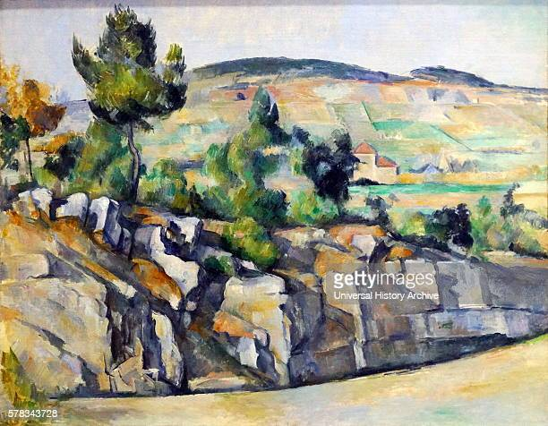 Painting titled 'Hillside in Provenca' by Paul Cezanne a French artist and PostImpressionist painter Dated 19th Century