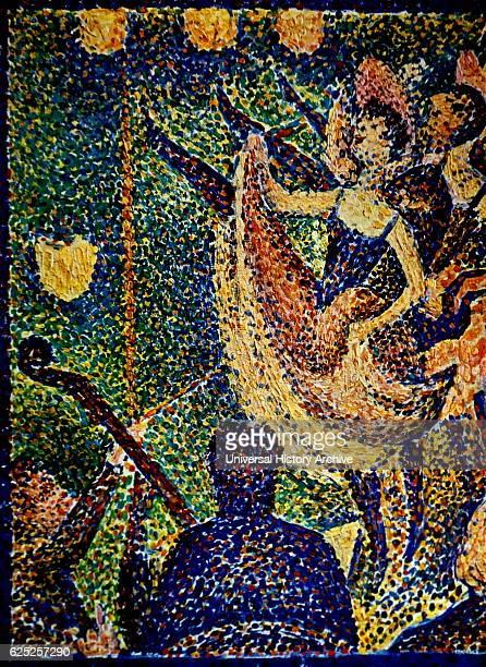 Painting titled 'Le Chahut' by Georges Seurat a French PostImpressionist painter Dated 19th Century
