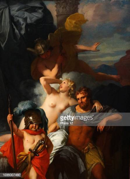 Painting titled 'Odysseus and Calypso' painted by Gerard de Lairesse Dated 17th Century