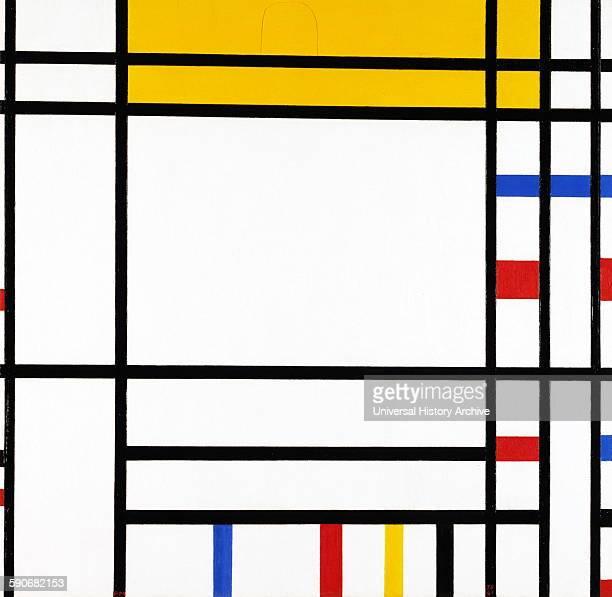 Painting titled 'Place de la Concorde' by Piet Mondrian Dutch painter He was a contributor to the De Stijl art movement and group which was founded...